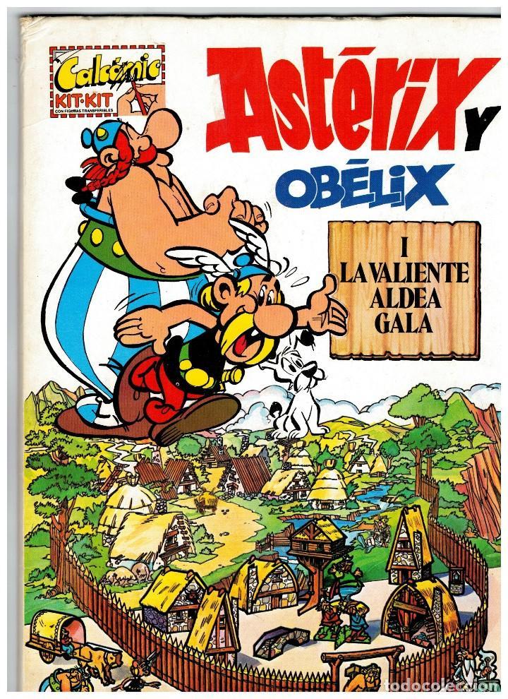 CALCÓMIC KIT-KIT- ASTÉRIX Y OBÉLIX I,II Y III - COMPLETOS DEL TODO.ARGOS VERGARA,1981. (Tebeos y Comics - Comics Colecciones y Lotes Avanzados)