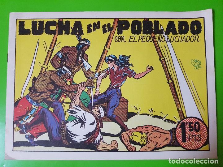 LUCHA EN EL POBLADO CON EL PEQUEÑO LUCHADOR DE MANUEL GAGO FORMATO GRANDE APAISADO (Tebeos y Comics Pendientes de Clasificar)