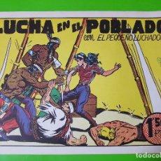 Cómics: LUCHA EN EL POBLADO CON EL PEQUEÑO LUCHADOR DE MANUEL GAGO FORMATO GRANDE APAISADO. Lote 128060487