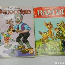 Cómics: DOS CÓMICS DE DE WALT DISNEY - PINOCCHIO Y BAMBI. Lote 132821114