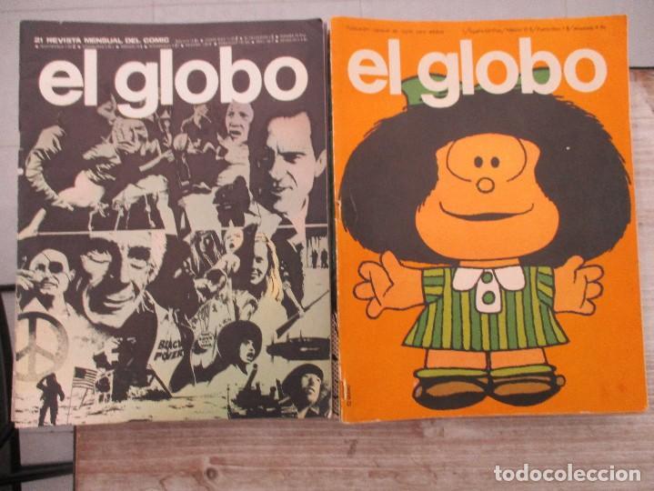 COLECCION COMPLETA EL GLOBO REVISTA MENSUAL DEL COMIC BURU LAN 21 EJEMPLARES (Tebeos y Comics - Comics Colecciones y Lotes Avanzados)