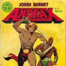 Cómics: ANDRAX Nº 5 POR JORDI BERNET (DIBUJOS) Y MIQUEL CUSSÓ (GUIÓN) 50 PÁGINAS. AÑO 1988.. Lote 128398503
