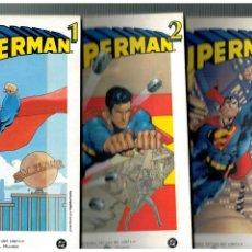 Cómics: BIBLIOTECA EL MUNDO -SUPERMAN 1,2 Y 3- COMPLETA. GRANDES HÉROES DEL CÓMIC.. Lote 128458283