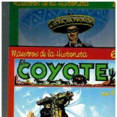 Cómics: MAESTROS DE LA HISTORIETA -EL COYOTE VOL. 1 Y 2- QUIRON,2000.. Lote 128471255