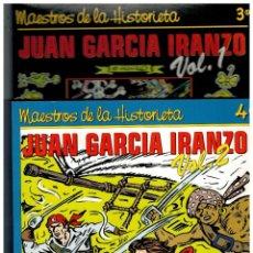 Cómics: MAESTROS DE LA HISTORIETA -JUAN GARCIA IRANZO VOL. 1 Y 2- QUIRON,2000.. Lote 128471531