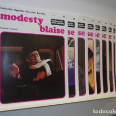 Cómics: LOTE 10 FASCICULOS MODESTY BLAISE Nº 13-14-15-16-17-18-19-20-21 Y 22 - BURULAN -. Lote 128563387