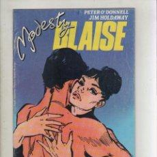 Cómics: MODESTY BLAISE-AÑO 1988-PLANETA DE AGOSTINI-B/N-FORMATO GRAPA-Nº 7-TIO FELIZ. Lote 128624103