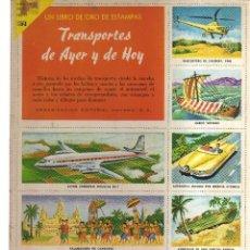 Cómics: TRASPORTES DE AYER Y HOY UN LIBRO DE ORO DE ESTAMPA. Lote 128625755