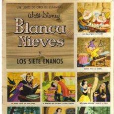 Cómics: BLANCA NIEVES Y LOS SIETES ENANOS LIBRO DE ORO ESTAMPAS WALT DISNEY. Lote 128626811