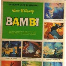 Cómics: BAMBI UN LIBRO DE ESTAMPAS WALT DISNEY. Lote 128627139