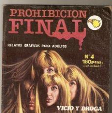 Comics : PROHIBICION FINAL Nº 4 - RELATOS PARA ADULTOS - COMIC EROTICO - EDITORIAL ASTRI - 1990 - 64 PP -. Lote 128883147