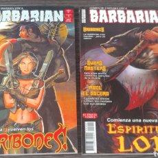 Cómics: REVISTA COMIC DE FANTASIA EPICA BARBARIAN AÑO II, 1 Y 2. Lote 129979612