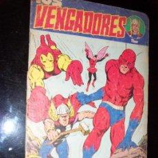 Cómics: LOS VENGADORES N.1 N.2 VERCION USA KIRBY/LEE EDIC. ARGENTINA ABRIL EDIT.. Lote 130292206