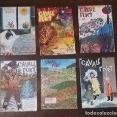 Cómics: LOTE 6 NUMEROS CAVALL FORT: 45, 48, 52, 57, 61, 64. JEP I FIDEL MADORELL, LA PATRULLA DELS CASTORS... Lote 130426006