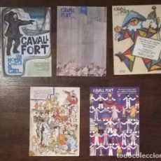 Cómics: LOTE 5 NUMEROS CAVALL FORT: 317, 318/319, 320, 321, 322. PERE VIDAL MADORELL, JAN I TRENCAPINS, L'AV. Lote 130427146