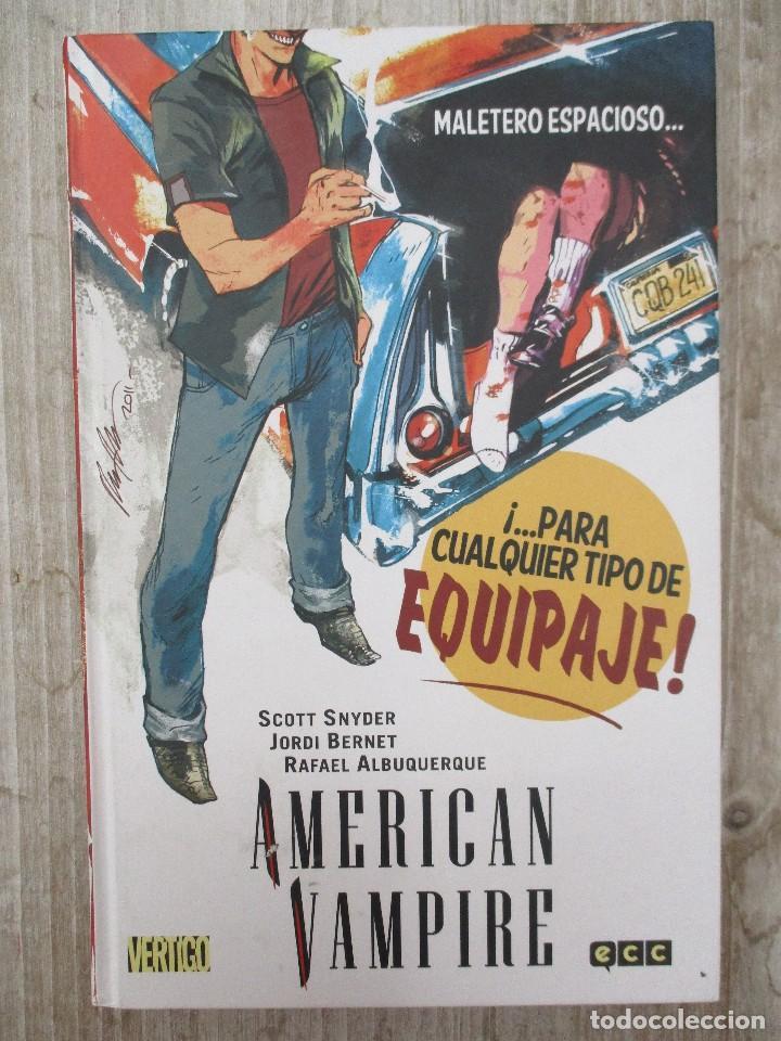 AMERICAN VAMPIRE Nº 4 TOMO TAPA DURA SCOTT SNYDER - JORDI BERNET - RAFAEL ALBUQUERQUE ECC / VERTIGO (Tebeos y Comics - Comics otras Editoriales Actuales)