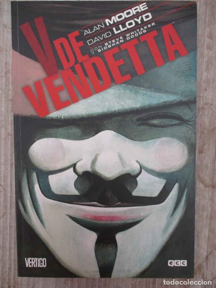 V DE VENDETTA ALAN MOORE - DAVID LLOYD ECC EDICIONES / VERTIGO (Tebeos y Comics - Comics otras Editoriales Actuales)