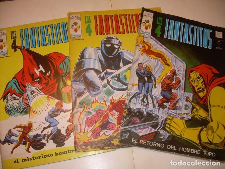 TRES COMICS .......LOS 4 FANTASTICOS...AÑO 1978 (Tebeos y Comics Pendientes de Clasificar)
