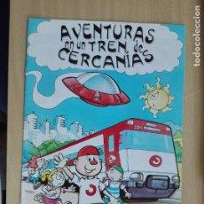 Cómics: COMIC TEBEO - IRUSA 1998 - AVENTURA EN UN TREN DE CERCANIAS - FERROCARRIL. Lote 130847292