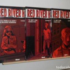 Cómics: COLECCION VIÑETAS NEGRAS RED RIVER HOTEL OBRA COMPLETA 3 TOMOS - GLENAT - OFERTA. Lote 130923036