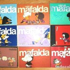 Cómics: COLECCIÓN DE 9 TIRAS DE MAFALDA POR QUINO DE ED. LUMEN EN BARCELONA 1981. Lote 27297897