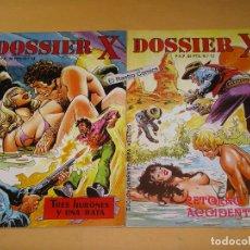 Cómics: DOSSIER X, LOTE CON LOS Nº 13 Y 14, ED. J FUENTES, AÑO 1984, OFERTA!!. Lote 180044331