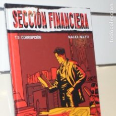 Cómics: SECCION FINANCIERA TOMO 1 CORRUPCION - GLENAT - OFERTA. Lote 173079484