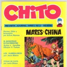 Cómics: CHITO Nº 16. MARES DE CHINA. EDIPRESS, AÑO 1974. Lote 131169703