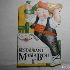 Cómics: CUENTO TROQUELADO RESTAURANTE MASIA BOU- VALLS 12 PAG CALÇOTADA. Lote 131922182