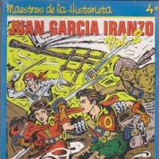 Cómics: MAESTROS DE LA HISTORIETA. EDICIONES QUIRÓN Nº 4. JUAN GARCÍA IRANZO VOL. 2. EN SU ENVOLTURA ORIGINA. Lote 132592814