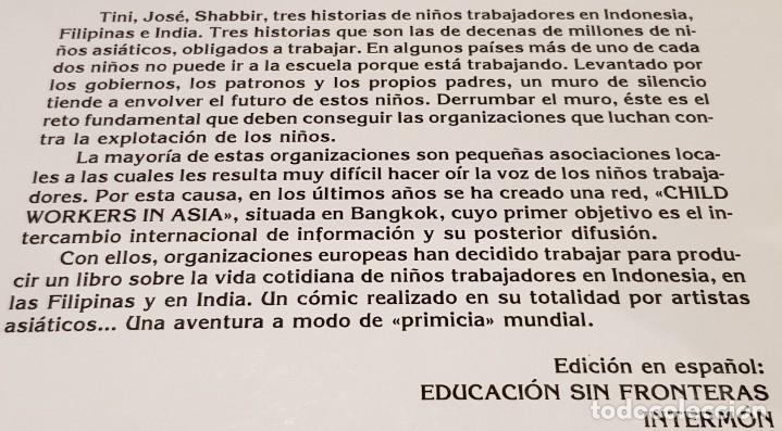 Cómics: TRABAJADORES DE DIEZ AÑOS / TINI-JODE-SHABBIR / ED - INTERMON / TAPA DURA / COMO NUEVO. - Foto 10 - 132751202
