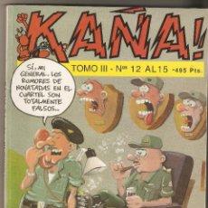 Cómics: KAÑA - TOMO III - NUMEROS 12 - 13 - 14 Y 15 - EDITA IRU.S.A -. Lote 133546322