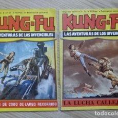 Cómics: LOTE 2 KUNG FU LAS AVENTURAS DE LOS INVENCIBLES PELEA PERROS LUCHA ED. AMAIKA NÚMEROS 31 Y 37. Lote 134100666