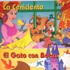 Cómics: CUENTO LA CENICIENTA - EL GATO CON BOTAS - COLECCION CUENTOS DE SIEMPRE -. Lote 134350118
