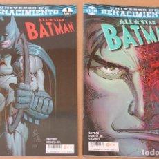 Cómics: UNIVERSO DC, RENACIMIENTO 1 2 - ALL-STAR BATMAN - ECC. Lote 134551586