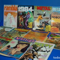 Cómics: LOTE 11 COMICS UNDERGROUND METAL HURLANT-CAIRO-VERTIGO-RAMBLA-1984-BUMERANG.... Lote 134728506