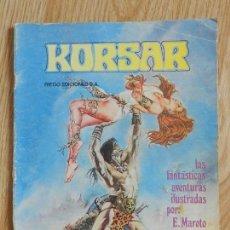 Cómics: KORSAR RIEGO EDICIONES LAS FANTÁSTICAS AVENTURAS ILUSTRADAS POR E. MAROTO AÑO 1980. Lote 134979498