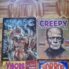 Cómics: CIMOC, HORROR, EL VÍBORA Y CREEPY . Lote 135501590