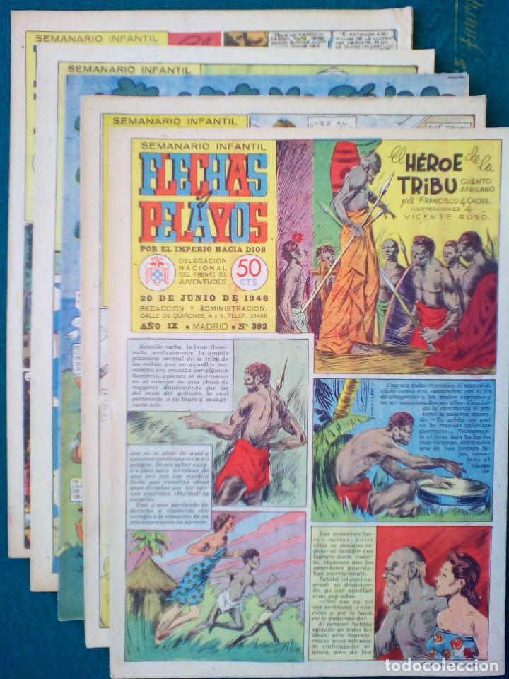 5 EJEMPLARES DE FLECHAS Y PELAYOS - VER FOTOS (LOTE 3) (Tebeos y Comics Pendientes de Clasificar)