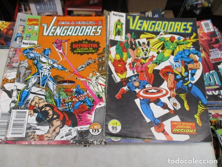 COLECCION LOS VENGADORES - DEL 1 AL 20 Y DEL 54 AL 103 + 7 EXTRAS - LEE DESCRIPCION - ED.FORUM (Tebeos y Comics - Comics Colecciones y Lotes Avanzados)