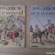 Cómics: DON QUIJOTE DE LA MANCHA I Y II. CHIQUI DE LA FUENTE. LAROUSSE 1984. DOS TOMOS . Lote 136024002