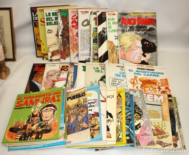 LOTE DE 36 COMICS -TOTEM BIBLIOTECA-SUPER TOTEM-TOTEM AVENTURAS Y VIAJES.ETC..CON DIBUJO ORIGINAL (Tebeos y Comics - Comics otras Editoriales Actuales)