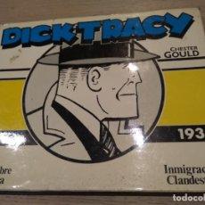 Cómics: DICK TRACY 1937 1938 DE CHESTER GOULD EL HOMBRE SIN CARA. INMIGRACION CLANDESTINA. CARTONE. Lote 136548394