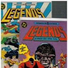 Cómics: LEGENDS -COMPLETA 1 AL 6- ZINCO,1987. TODOS CON FUNDA Y CARTÓN PROTECTOR.. Lote 136633002