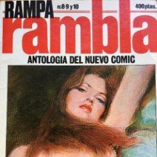 Cómics: RAMPA RAMBLA ANTOLOGÍA DEL NUEVO CÓMIC. TOMO RETAPADO CON LOS NÚMEROS 8, 9. Y 10. Lote 136871058