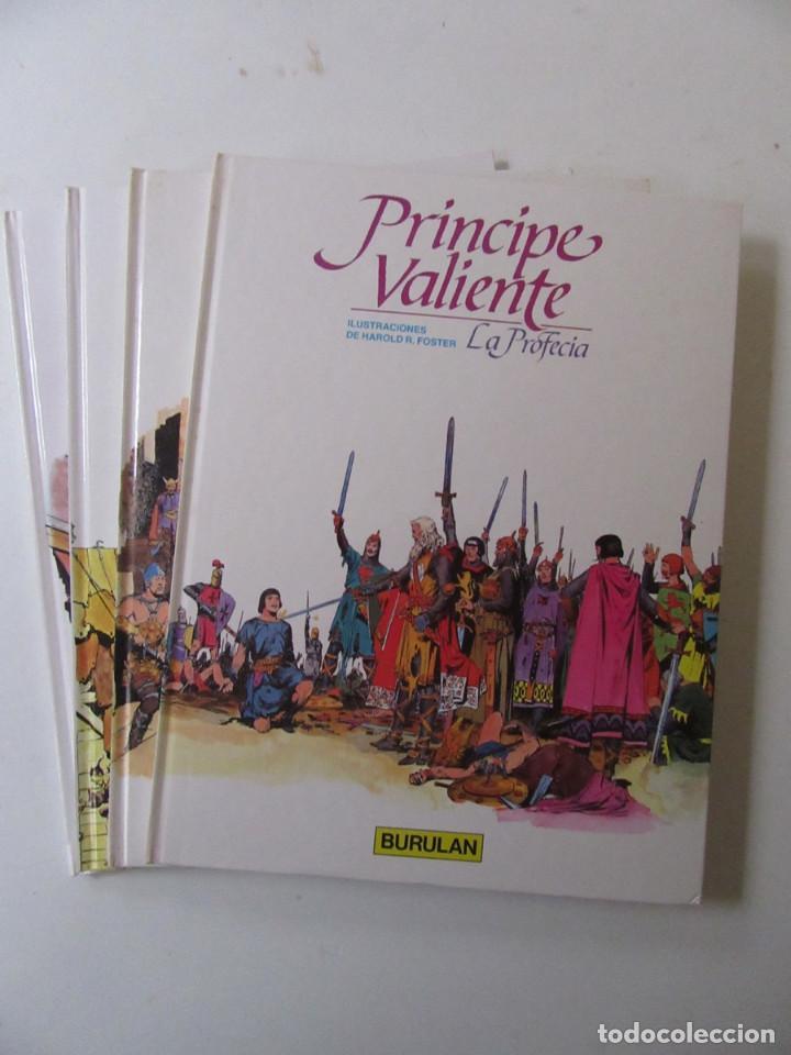 PRÍNCIPE VALIENTE - 4 TOMOS - HAROLD R. FOSTER - BURULAN - TAPA DURA (Tebeos y Comics - Buru-Lan - Principe Valiente)