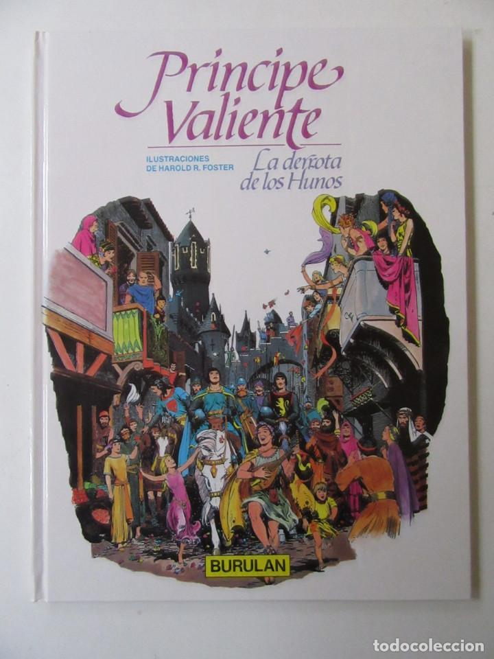 Cómics: PRÍNCIPE VALIENTE - 4 TOMOS - HAROLD R. FOSTER - BURULAN - TAPA DURA - Foto 2 - 137329142