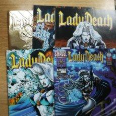 Cómics: LADY DEATH ODYSSEY (1996) COLECCIÓN COMPLETA (5 NUMEROS). Lote 137975362