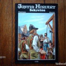 Cómics: JUSTIN HIRIART - SEKRETOA - EN EUSKERA . Lote 139239578