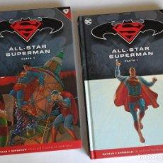 Cómics: ALL STAR SUPERMAN, DE GRANT MORRISON Y FRANK QUITELY. SERIE COMPLETA EN 2 TOMOS. MUY BUENA. Lote 140430190